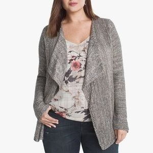WHBM Silver w Gold Sequins Open Cardigan Sweater